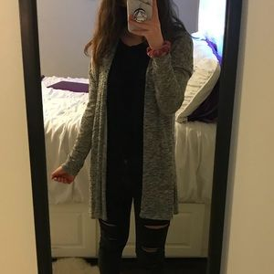 Divided Gray Cardigan